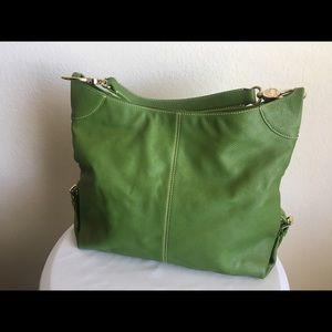 Dooney & Bourney Green Pebble Leather Tote